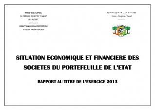 le rapport Economique et Financier  des Entreprises 2013