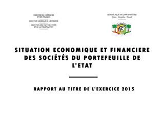 le rapport Economique et Financier  des Entreprises 2015