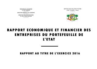 le rapport Economique et Financier  des Entreprises 2016
